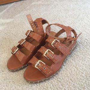 Shoes - NEW Brown gladiator studded sandals